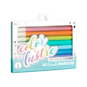 Color Lustre Brush Markers (Set of 10 Metallic Colors)