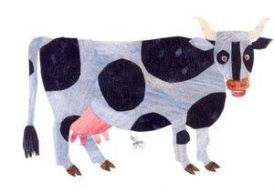 Eric Carle Postcard - Cow