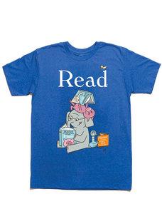 ELEPHANT & PIGGIE Read Adult T-Shirt