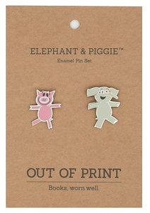 Elephant & Piggie Enamel Pin Set
