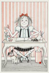 Eloise at Desk Postcard