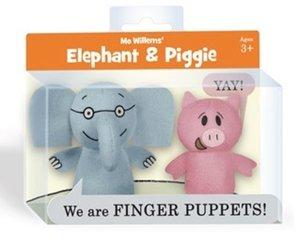 """ELEPHANT & PIGGIE"" Finger Puppet Set"