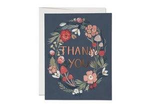 Forest Blue Thank You Card
