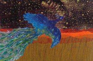 Antonio Frasconi Postcard - Peacock