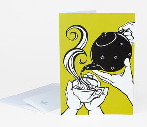 Nikki McClure Card - Tea (Give In)