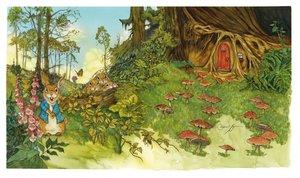 Michael Hague Postcard - Peter Rabbit