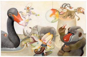 Etienne Delessert Postcard - Ionesco Stories 123