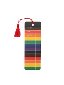Library Card Rainbow Tassel Bookmark