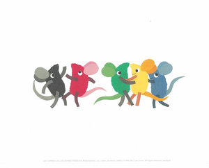 Leo Lionni Print - Color Mice