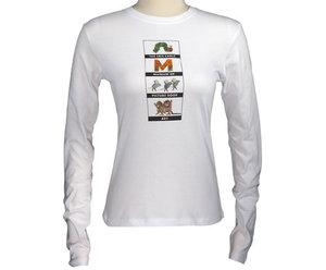 Ladies Long-Sleeve Fitted Logo T-Shirt