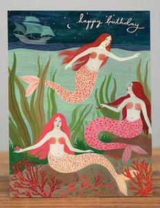 Mermaids Birthday Card