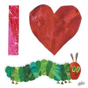 I Heart Caterpillar Canvas Wall Art