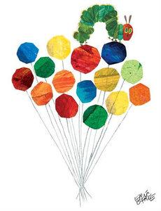 Caterpillar & Balloons Canvas Wall Art