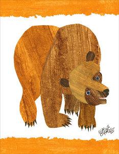 Brown Bear Cover Canvas Wall Art