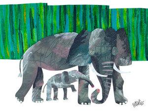 Elephant Mother Canvas Wall Art