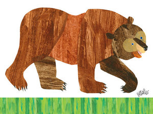 Brown Bear Canvas Wall Art
