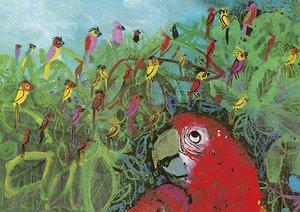 Brian Wildsmith Card - A Company of Parrots