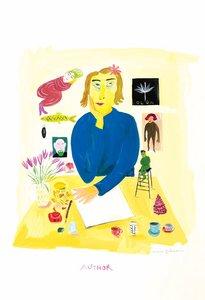 Maira Kalman Postcard - Author