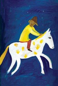 Maira Kalman Postcard - Max on a Horse