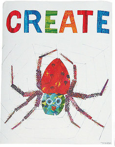 """Eric Carle Spider Poster """"Create"""""""