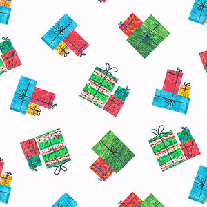 Holiday Presents Fabric