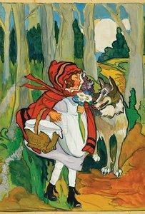 Emma Clark Postcard - Little Red Riding Hood