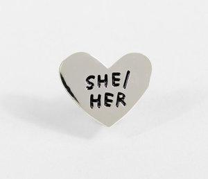 Pin-Pronoun: She/Her