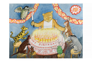 E.H. Shepard Postcard - Winnie the Pooh Birthday