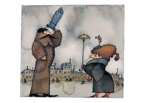 Uri Shulevitz Postcard - Snow