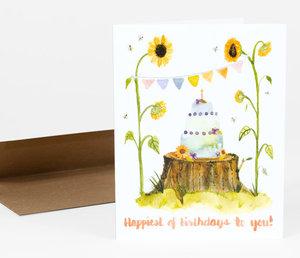 Card-Sunflowers Birthday