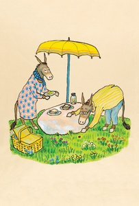 Sylvester and the Magic Pebble Postcard - Picnic