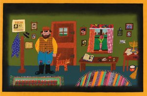 Simms Taback Postcard - Joseph Had a Little Overcoat