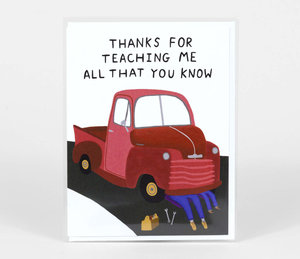 Card-Thanks for Teaching Me