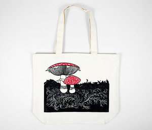 Tote-Nikki McClure Mushrooms