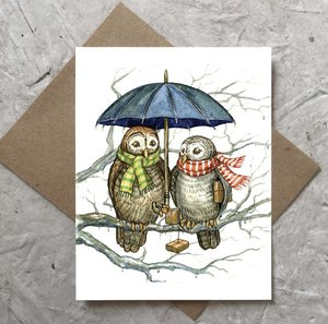Card-Two Owls