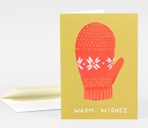 Card-Warm Wishes Mitten