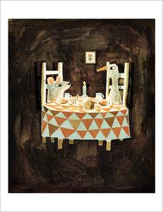 Jon Klassen Print - Wolf, Duck, Mouse