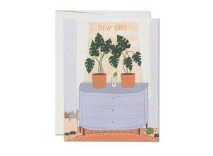 Nursery Plants New Baby Card