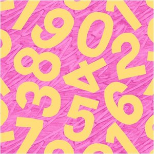 Birthday Pink Numbers Fabric