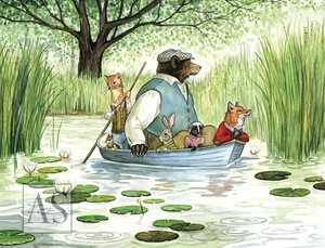 Boating with Hector Fox Card