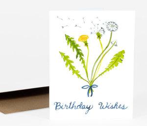 Card-Dandelion Birthday Wishes