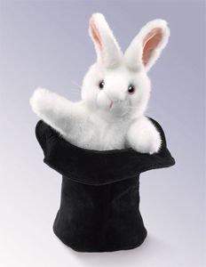Rabbit in Hat Hand Puppet