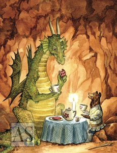 Tea Time with the Dragon Card