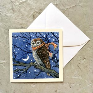 Winter Owl Mini Enclosure Card