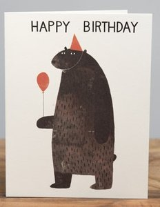 Jon Klassen Card - Party Bear