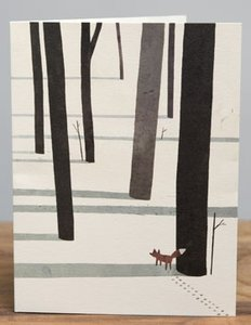 Jon Klassen Card - Fox in the Snow