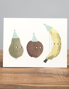 Jon Klassen Card - Fruit Party