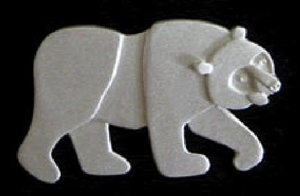 Brown Bear Silver Pin