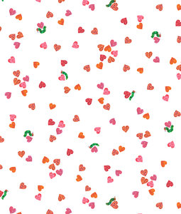 Confetti Hearts Fabric