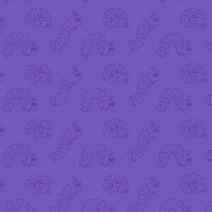 Very Hungry Caterpillar Wiggle Purple Fabric